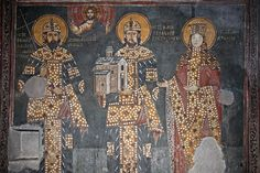 Crkva Svetog Ahilija, Arilje, Dragutin, Milutin i Dragutinova zena Katalina, ugarska princeza