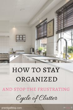 If you have too much stuff in your home, no amount of organizing will help. You CAN stay organized and stop the frustrating cycle of clutter in your home by decluttering your belongings, having a maintenance plan, and sticking to it! Click to go to the article and find out how!