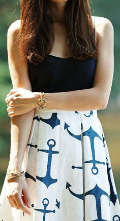 Nautical anchor dress