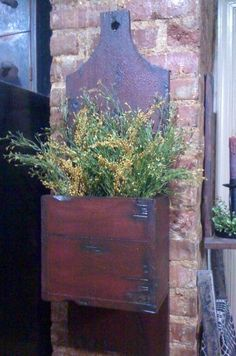 Spring Primitive Wall Box