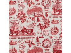 CHR-8 Red & White Christmas Toile Fabric