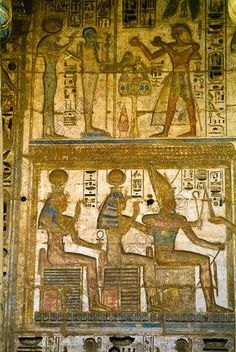 Medinet Habu Temple Luxor Egypt Hathor Amun Sekhmet Ptah Isis Gods