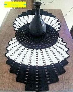 caminho de mesa com grafico croche - Pesquisa Google