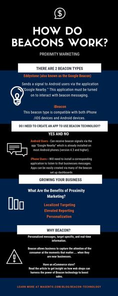 What if there was a technology that allowed you to contact potential buyers as they strolled by your place of business. Read about Beacon Technology, Proximity marketing, and eCommerce. Stay one step ahead of the growing competition.