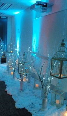Wedding Winter Wonderland Blue Party Ideas Ideas For 2019 Winter Wonderland Decorations, Winter Wonderland Wedding, Wonderland Party, Winter Wonderland Christmas Party, Wedding Centerpieces, Wedding Decorations, Christmas Decorations, Centerpiece Ideas, Winter Party Decorations