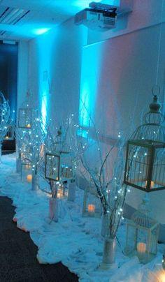 Wedding Winter Wonderland Blue Party Ideas Ideas For 2019 Wedding Centerpieces, Wedding Decorations, Christmas Decorations, Centerpiece Ideas, Winter Party Decorations, Hall Decorations, Winter Centerpieces, Decor Wedding, Winter Diy