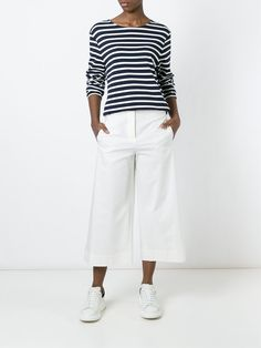 Brunello Cucinelli широкие укороченные брюки