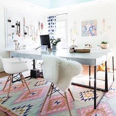 Over It: How To Not Care What People Think And Be Proud Of Your Side Project -Getting Over It: How To Not Care What People Think And Be Proud Of Your Side Project - 5 Cheap Ways to Dress Up Your Desk the background drop. Customize-It Acrylic Desk Office Furniture, Office Decor, Home Office, Office Ideas, Cute Desk, Proud Of You, Cozy House, Get Over It, Sweet Home