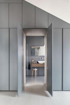 Stylish 45 Creative Bedroom Wardrobe Design Ideas That Inspire On House Design, Apartment Design, Home, Bedroom Wardrobe, Bedroom Interior, Minimalist Apartment, House Interior, Loft Room, Creative Bedroom
