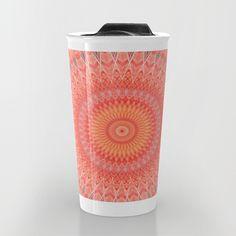 Travel mug ! Mandala mental health by Christine Baessler