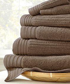Loving this Mocha Jacquard Bath Towel Set on #zulily! #zulilyfinds