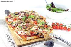 Pizza végétarienne chèvre-miel-figue #omnicuiseur Blender, Vegetarian Food, Vegetable Pizza, Quiche, Vegetables, Italia, Vegetarian Pizza, Figs, Gratin