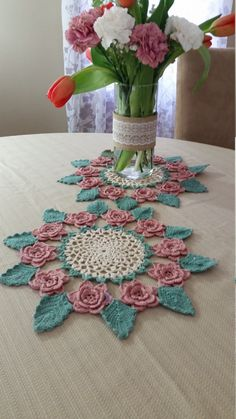 Rose Doily by SandraTsHomeGoods on Etsy ♡