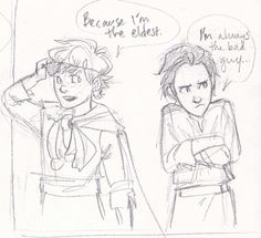 Thor and Loki. | BURDGE WHYYYY WOULD YOU DRAW THIS