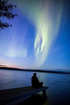 Northern Lights in Finnish Summer