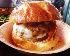The spectacular burger found at Comme Ca Las Vegas