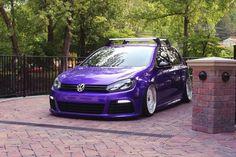 slammed VW Golf 7 MK7 R Purple Black tuningblog.eu 2 photo