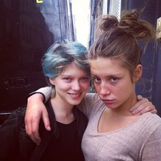 Here's a lovely #TBT of Léa and Adele on the set of 'Blue Is The Warmest Colour'