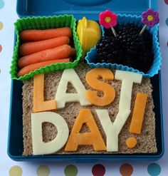 Fun lunch idea! Last day before summer vacation or before vacation for work