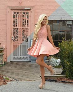 PIN: {{meegs}} IG: mondaisies simple pink stian short homecoming dresses for teens, semi formal lace dress for girls, vintage graduation party dress,short prom party gowns Pretty Dresses, Sexy Dresses, Short Dresses, Short Skirts, Sexy Outfits, Dress Outfits, Dress Skirt, Lace Dress, Lace Bodice