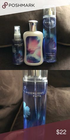 BBW moonlight path Two body sprays and body lotion. Large body mist used a few times Other
