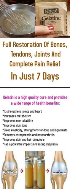 Full Restoration Of Bones, Tendons, Joints And Complete Pain Relief In Just 7 Days #health #fitness #bones #beauty