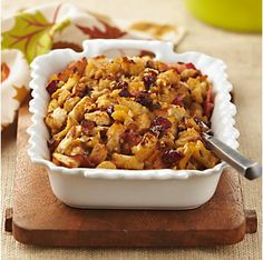 Apricot-Cranberry Stuffing by @mytexaslife