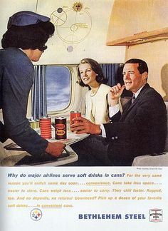 Vintage Ads  soft drinks in cans