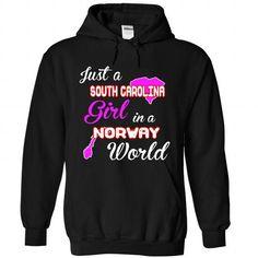 South Carolina-Norway Girl - #tshirt skirt #hipster sweater. HURRY => https://www.sunfrog.com//South-Carolina-Norway-Girl-1208-Black-Hoodie.html?68278