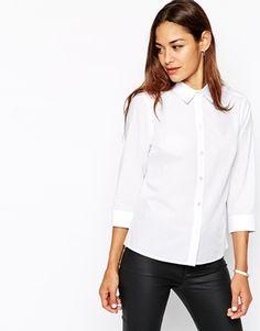 ASOS 3/4 Sleeve White Shirt