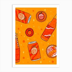 Fine art print using sunlight-resistant inks on cotton mix archival paper. This piece will be printed using state-of-the-art digital giclée printers. Your print will last a lifetime and remain as vibrant as the day it came off the press. Book City, Orange Soda, Tree Logos, Simple Illustration, Tree Art, Line Drawing, Food Print, Illustrators, Fine Art Prints