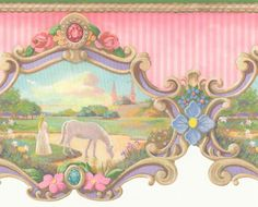Carousel Wall Paper Border - Wall Sticker Outlet