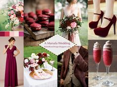 A Marsala Wedding: Inspiration for Using Pantone's Color of the Year 2015 #marsala