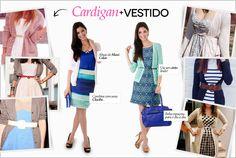 Cardigan + Vestido