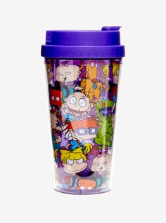 Take your favorite Rugrats characters wherever you adventure to with this travel tumbler. Rugrats Characters, Disney Mugs, 90s Cartoons, Cool Mugs, Tumbler Cups, Cool Stuff, Kitchen, Fill, Geek Stuff