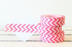 Pink Chevron Washi Tape Planner Tape Scrapbook by MailboxHappiness