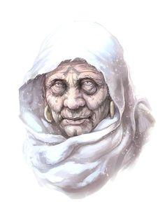 Old Female Cleric - Pathfinder PFRPG DND D&D d20 fantasy