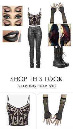"""""""Ring Outfit 1"""" by tattooed-enigma-01 ❤ liked on Polyvore featuring Alexander McQueen, Rick Owens, Leather, Dark and goth"""