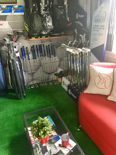 Olympic Golf, Golf Clubs, Product Launch, Decor, Decoration, Decorating, Deco