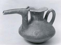 Spouted vessel (Period: Iron Age Date: ca. 1000 B.C. Geography: From Iran, Tepe Sialk Culture: Iran Medium: Ceramic Dimensions: 7.01 x 11.22 in. (17.81 x 28.5 cm) Classification: Ceramics-Vessels Credit Line: Rogers Fund, 1948)