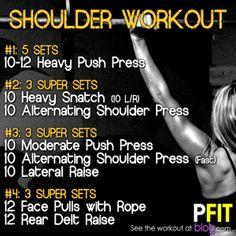 Sweat & Tone! Wonderful Shoulder Exercise - http://www.awesomefitnessmodels.com/female-fitness-model/sweat-tone-wonderful-shoulder-exercise.html
