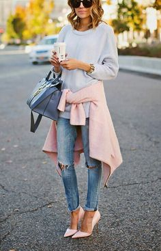 Afbeelding via We Heart It https://weheartit.com/entry/143345602 #autumn #blonde #denim #fashion #girl #outfit #style #trend