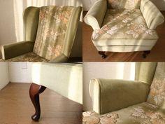 ウイングバックチェア Denim Furniture, Blanket, Chair, Home, Ad Home, Stool, Blankets, Homes, Cover