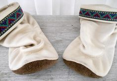 Vintage soft leather boho slippers Moccasin Shoes by houuseofwren,