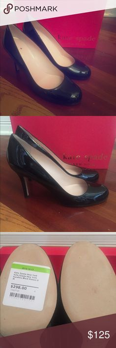 New in Box Kate Spade Karolina Patent Heels 8 Black patent leather- size 8 kate spade Shoes Heels