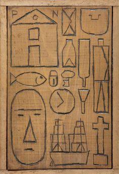 Joaquin Torres-Garcia Construccion sobre madera.
