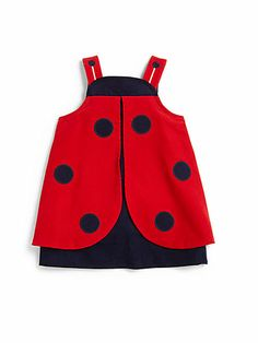 Florence Eiseman - Infant's Corduroy Ladybug Dress