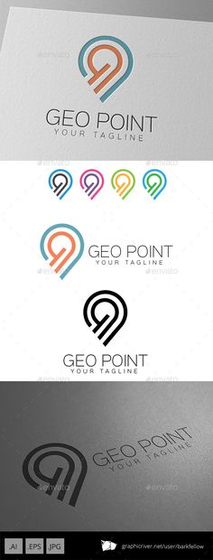 Geo Point Location Logo — Vector EPS #maps #location • Available here → https://graphicriver.net/item/geo-point-location-logo/9299502?ref=pxcr