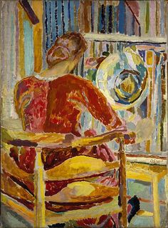 Grant, Duncan - Vanessa Bell Painting - Bloomsbury Group - Portrait - Oil on canvas