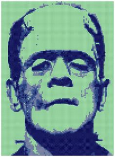 Frankenstein's Monster Frankie Counted Cross by WooHooCrossStitch